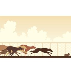 Greyhound dog race vector