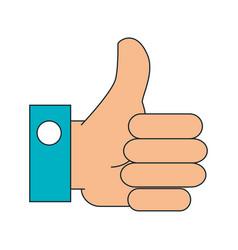 hand like social icon vector image