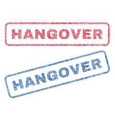 Hangover textile stamps vector