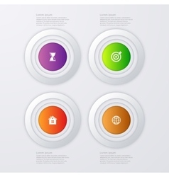 infographics four options vector image