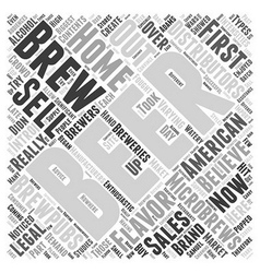 Intro to microbrews word cloud concept vector