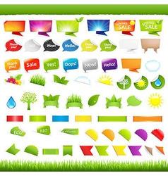 Nature Symbols vector image vector image