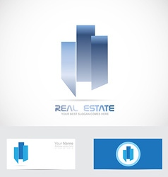 Real estate abstract shape logo vector image