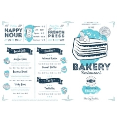 Restaurant cafe bakery menu template vector