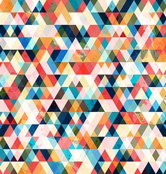 Retro triangle seamless pattern vector