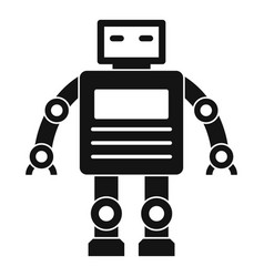 Robot icon simple style vector
