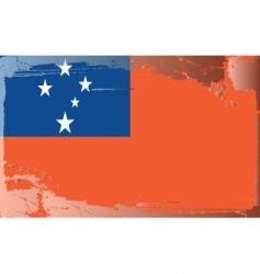 Samoa national flag vector