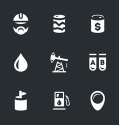 Set of geology and oil icons vector