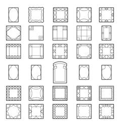 Set square frames vector image