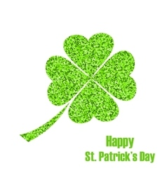 Shiny Twinkle Clover for St Patricks Day vector image