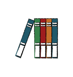 Stack books learn literature library office vector
