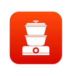 Steamer icon digital red vector