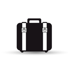 Suitcase with straps black design vector