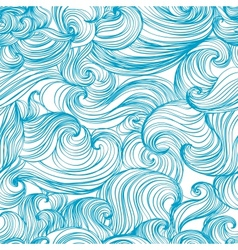 Waves and curls background vector image vector image