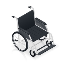 Wheelchair detailed isometric icon vector image vector image