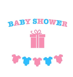 Decoration for baby shower vector