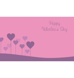 Happy valentine day on pink backgrounds vector