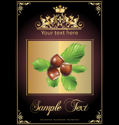 Chocolate nuts and milk realistic vector