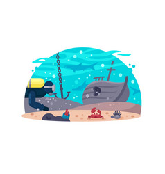 diving active rest vector image