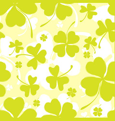 Spring pattern with green clover vector