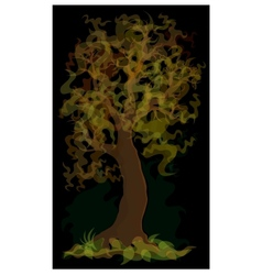 Autumn yellow tree vector