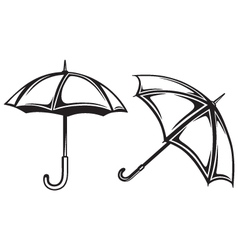 Umbrella collection vector image