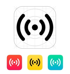 Radio waves icon vector