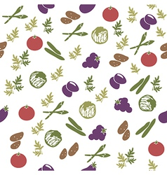 Vegetarian food seamless pattern vector image