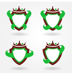 Blazon design set vector