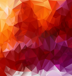 Violet orange red polygonal triangular pattern vector