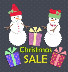 Christmas sale vector