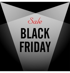 Black Friday sales Black vector image