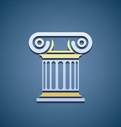 Logo marble column vector