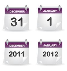 Calendar purple vector image