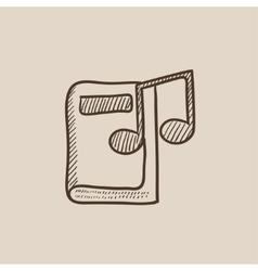 Audio book sketch icon vector
