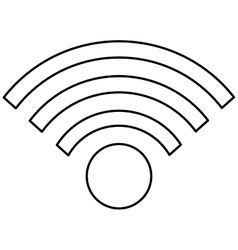 Simple wifi icon vector