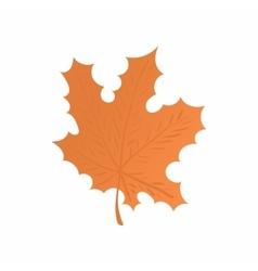 Maple leaf icon cartoon style vector
