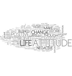 Attitude in business text word cloud concept vector