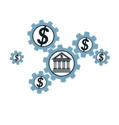 Banking and finance conceptual logo unique symbol vector