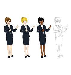 Business Woman Presentation vector image vector image
