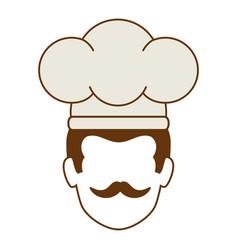 chef head avatar character vector image
