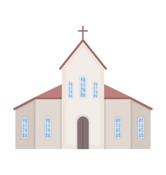 Church icon in cartoon style isolated on white vector image vector image