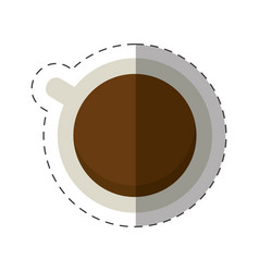 Coffee cup beverage cut line vector