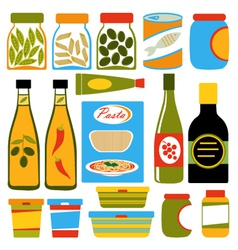 Colorful food composition vector