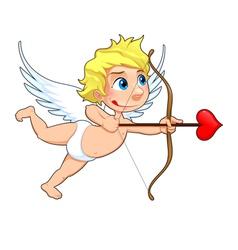 Funny Cupid vector image