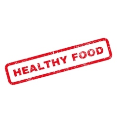 Healthy Food Text Rubber Stamp vector image