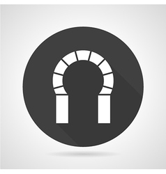 Horseshoe archway black round icon vector