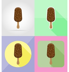 ice cream flat icons 02 vector image vector image