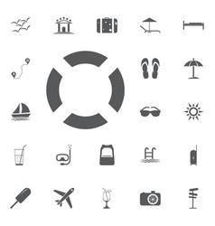 lifebuoy icon summer set vector image