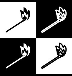 Match sign black and white vector